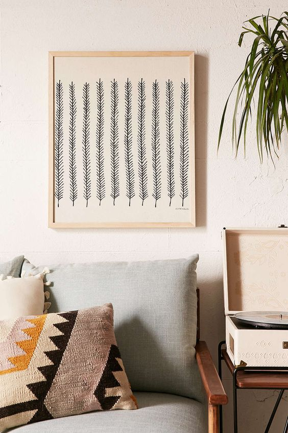 illustration de branches à reproduire - DIY branch wall art
