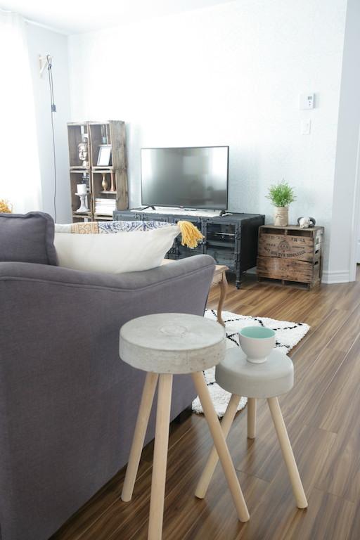 DIY concrete stools / Fabriquer des tabourets en béton