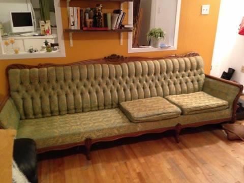 vieux sofa vintage