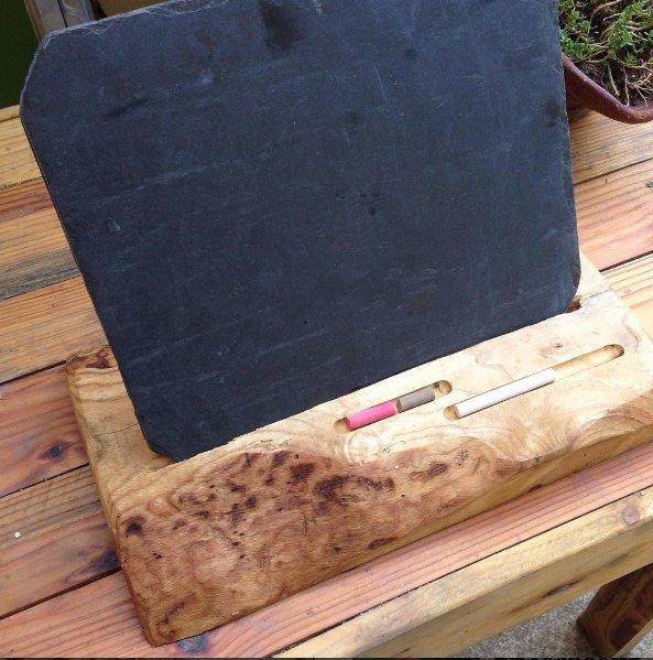 Fabriquer un bloc note géant avec une ardoise et une planche de bois