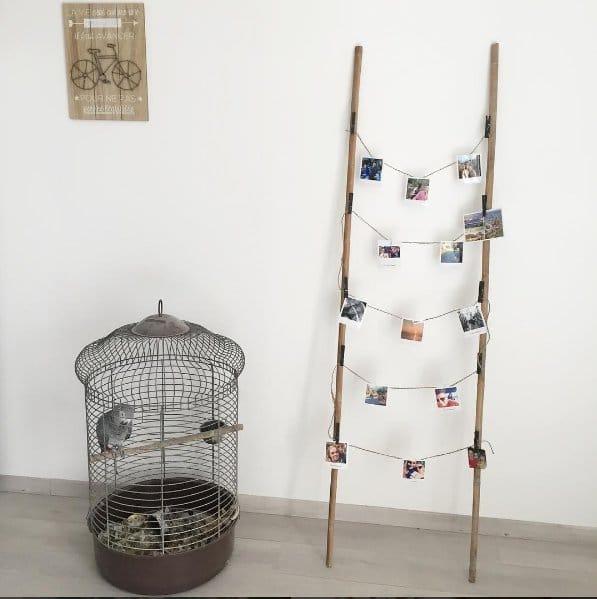 DIY échelle décorative pour suspendre des photos