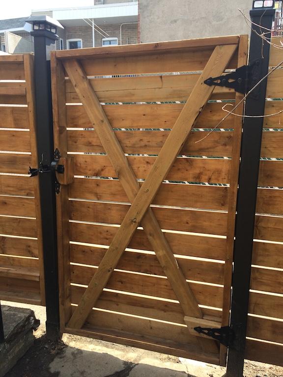 Fabrication porte de clôture horizontale