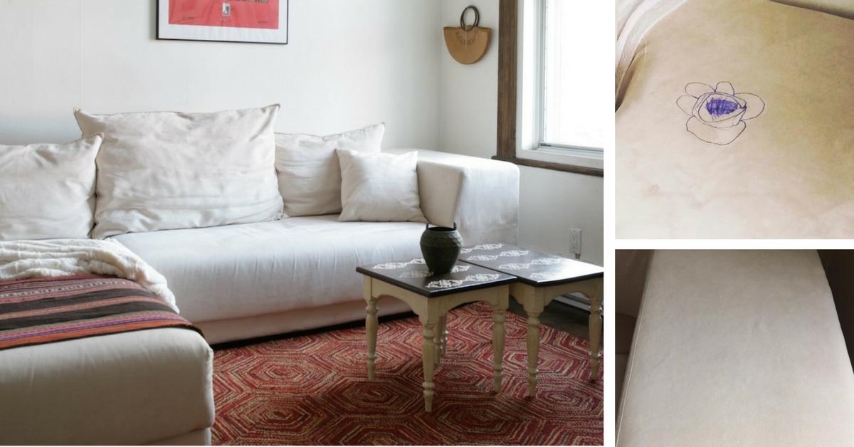 Comment détacher un canapé en suède / daim blanc