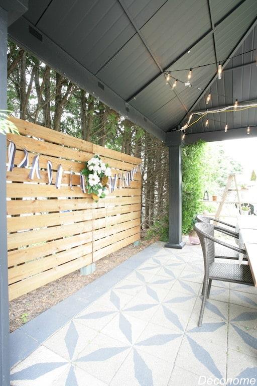 DIY fabriquer un écran décoratif avec planches horizontales / DIY fence with horizontal wood