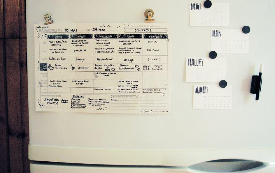 Planificateur familial calendrier facile pour toute la semaine de la famille