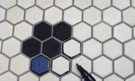 Nouveau plancher en céramique nid d'abeille pour moins de 20$