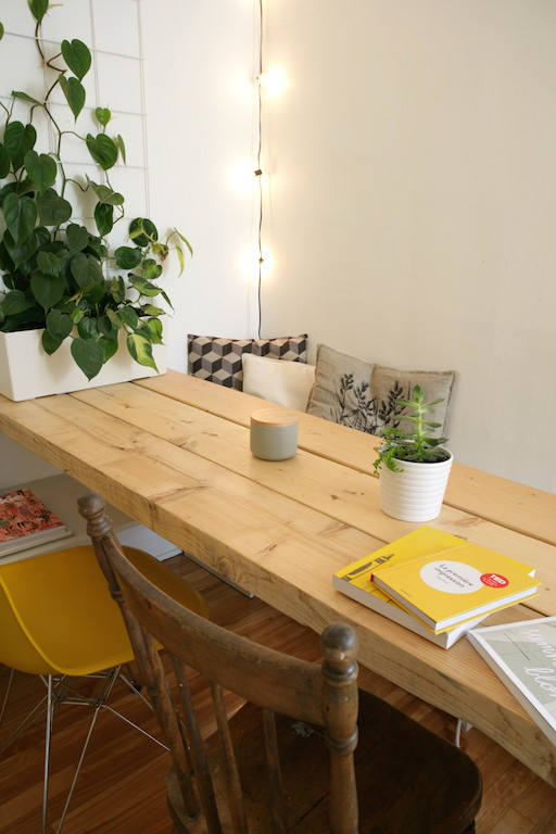 fabriquer une table avec des planches madrier en bois / DIY long table with wood planks