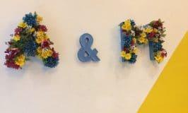 Fabriquer une lettre en carton fleurie