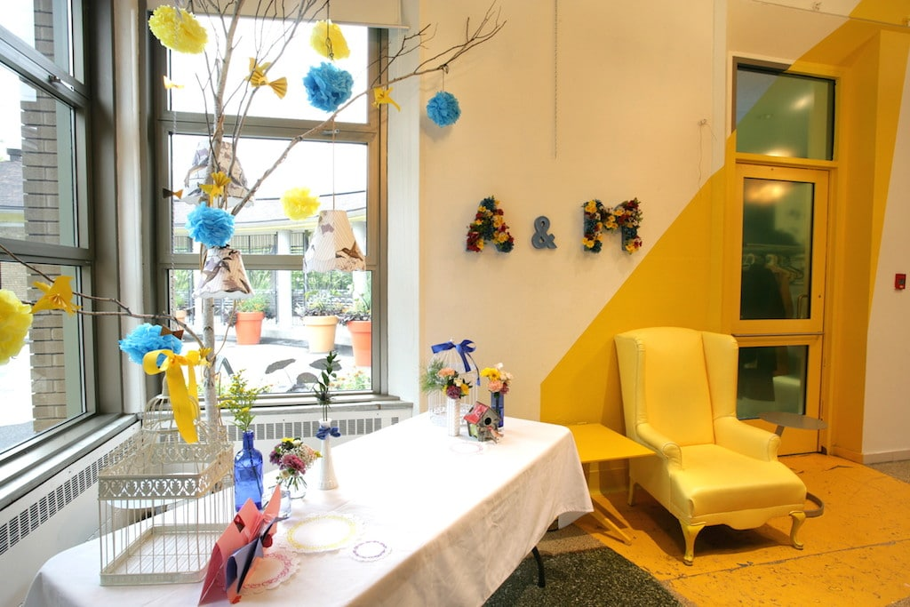 idée décoration table mariage petit budget / Decoration ideas in blue and yellow for a low budget wedding with mexican theme