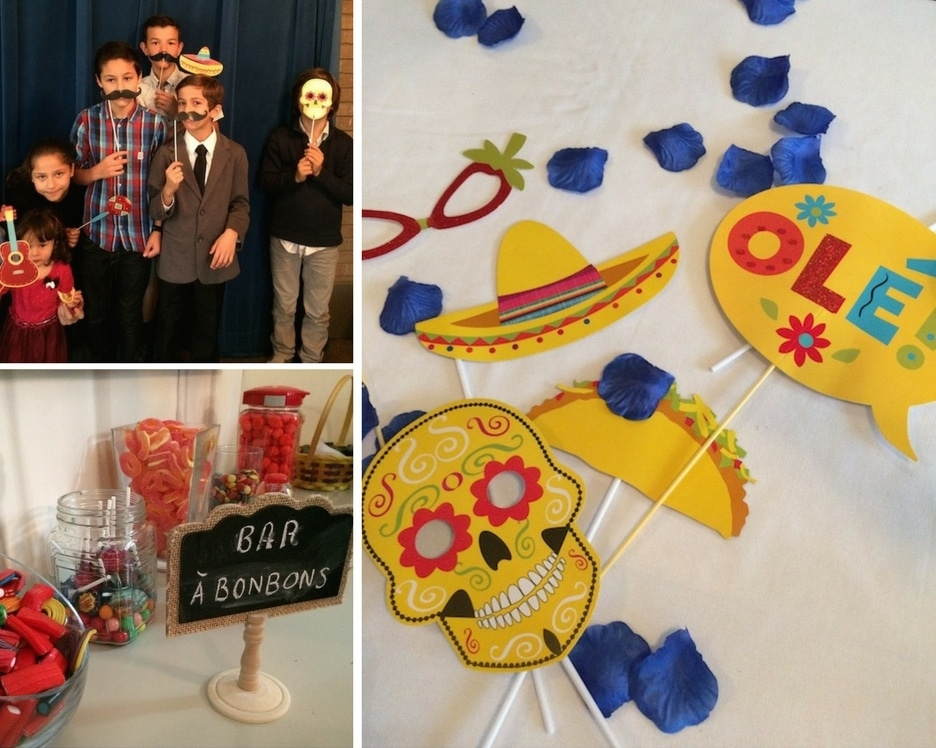 Photobooth for a low budget wedding with mexican theme