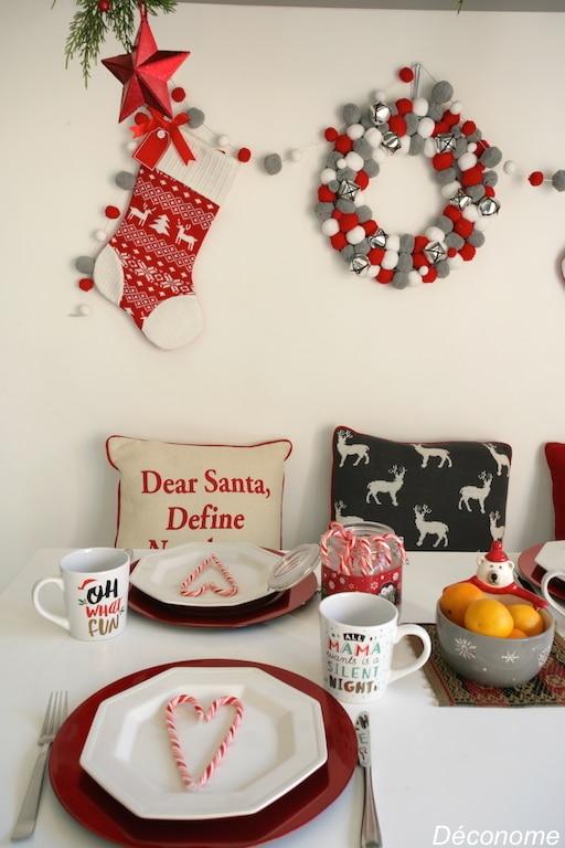 Mugs de Noël et accessoires de table @walmart