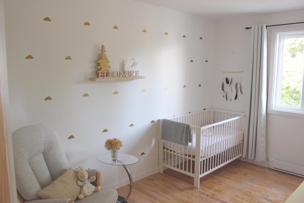 Décoration mots en bois planche à suspendre - chambre de bébé
