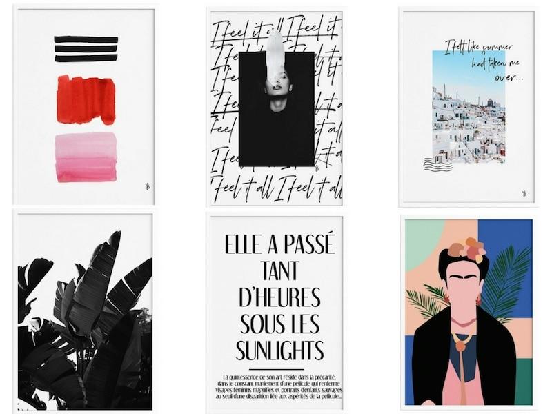 sélection d'affiches tendance et pas chères - Affiches The Printable Concept