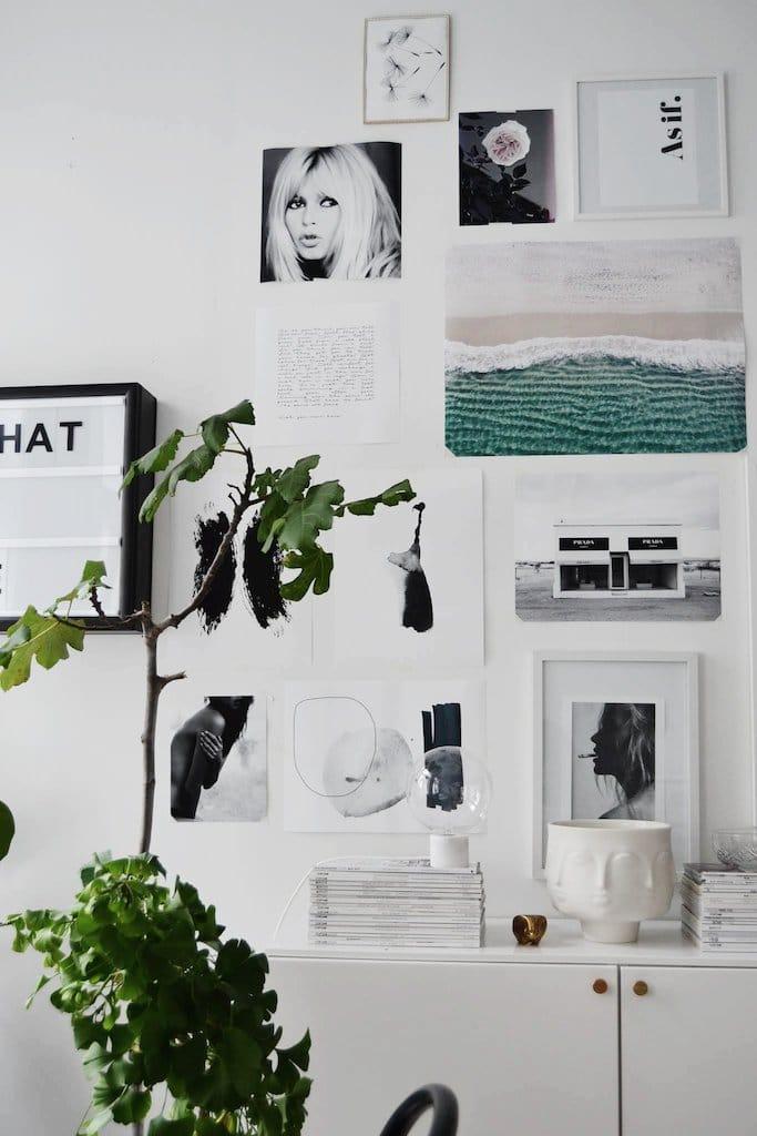 Réaliser un mur d'affiches tendance et pas cher - Affiches The Printable Concept