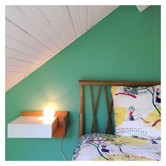 mur vert sous les toits en lambris bardage blanc