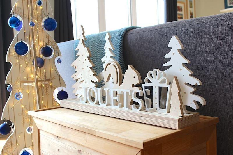 DIY planche bois à customiser avec lettres en bois et formes - Quatro Boutique