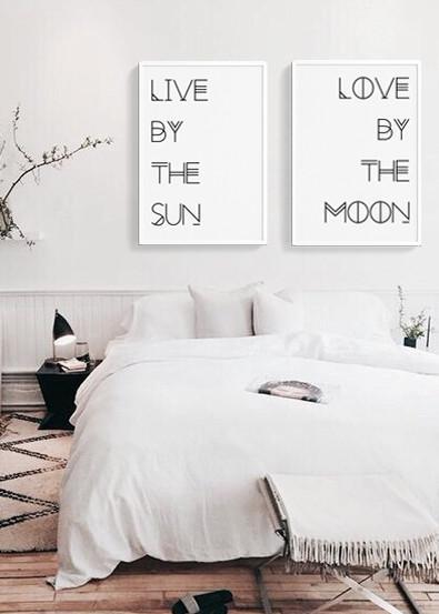 chambre à coucher boho chic et Affiches The Printable Concept