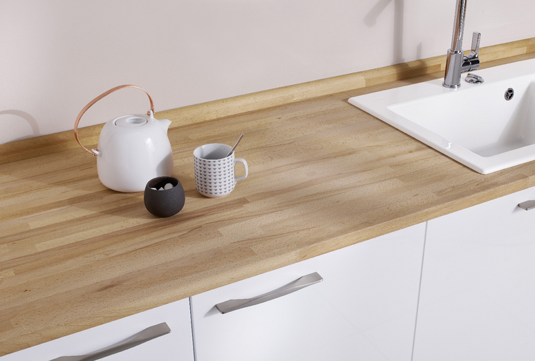 plan de travail en bois hêtre - Lapeyre