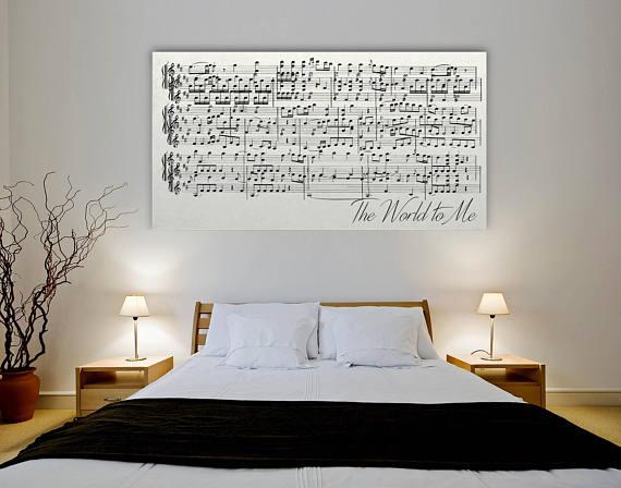 Tableau feuille musique