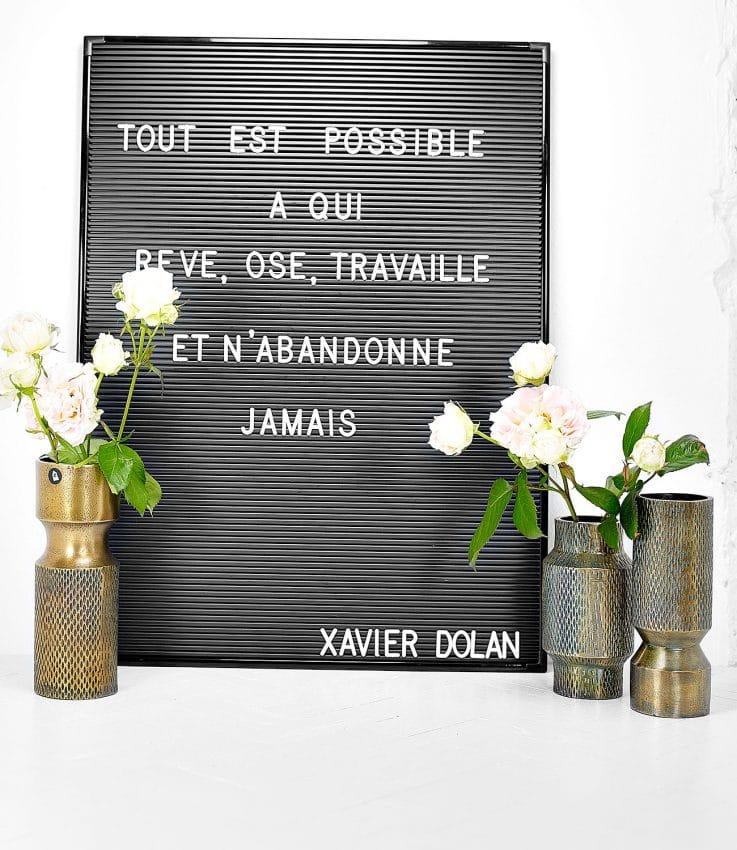 Letterboard message Xavier Dolan