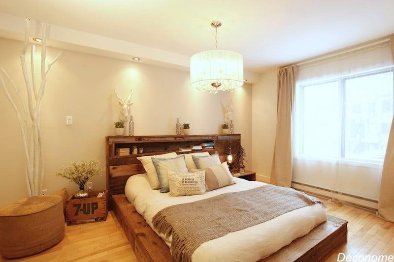 lit fabriqué sur mesure bois de grange / reclaimed wood custom bed
