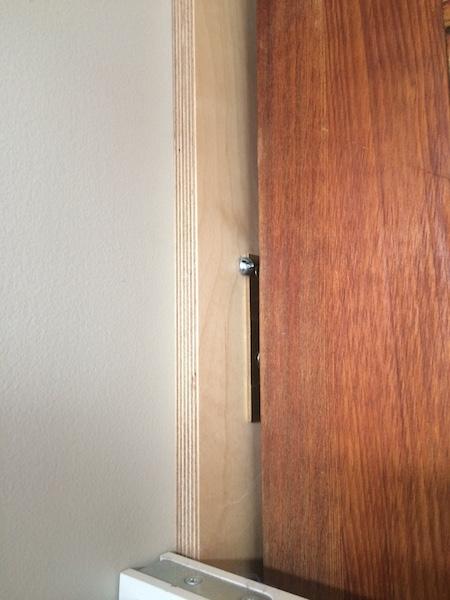 Cr er un hall d 39 entr e avec des portes suspendues d conome - Fixation porte d entree ...