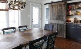 Ambiance farmhouse dans la salle à manger de Marylène
