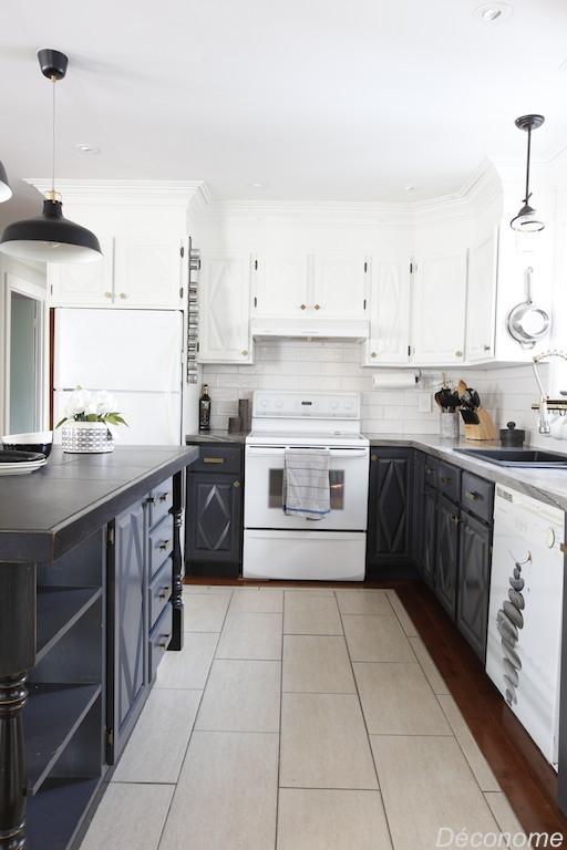 relooking cuisine gris et blanc