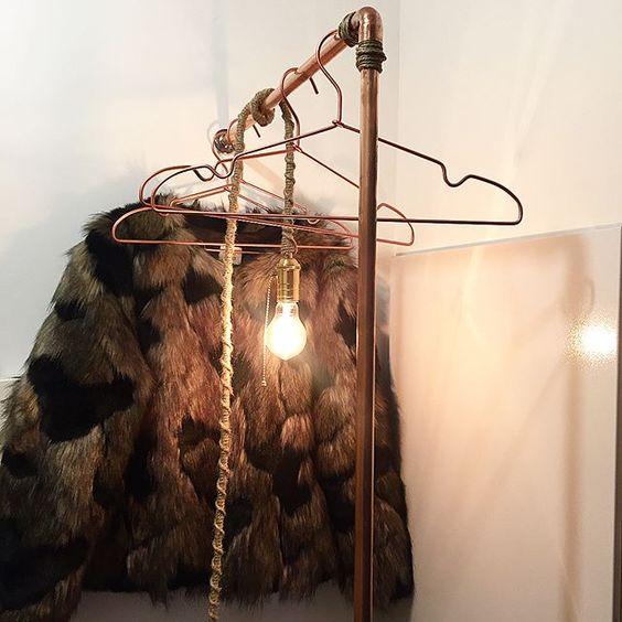 DIY porte manteau tuyaux cuivre