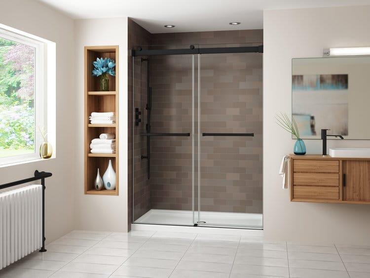 O trouver une porte de douche de style industriel - Porte de douche verre ...