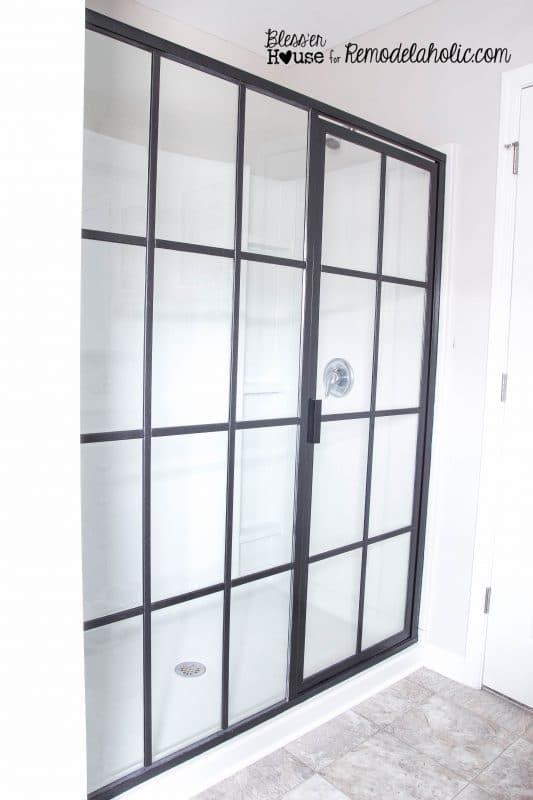 DIY porte de douche verrière industrielle
