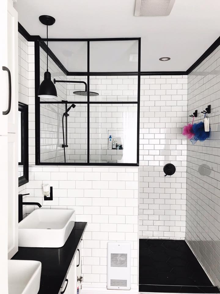 O trouver une porte de douche de style industriel for Ou acheter son carrelage