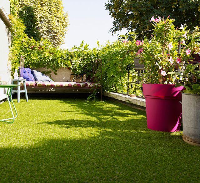 poser gazon synthetique sur balcon ou terrasse en béton