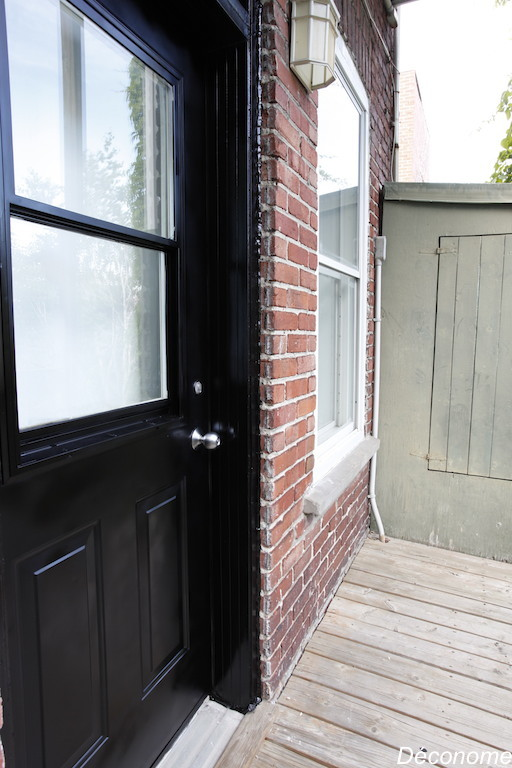 porte extérieure acier peinte en noir / how to paint a door
