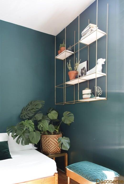 DIY étagère ouverte design / Open minimalist gold and white shelve DIY
