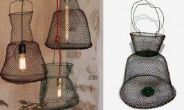 Fabrique une suspension avec une nasse de pêche