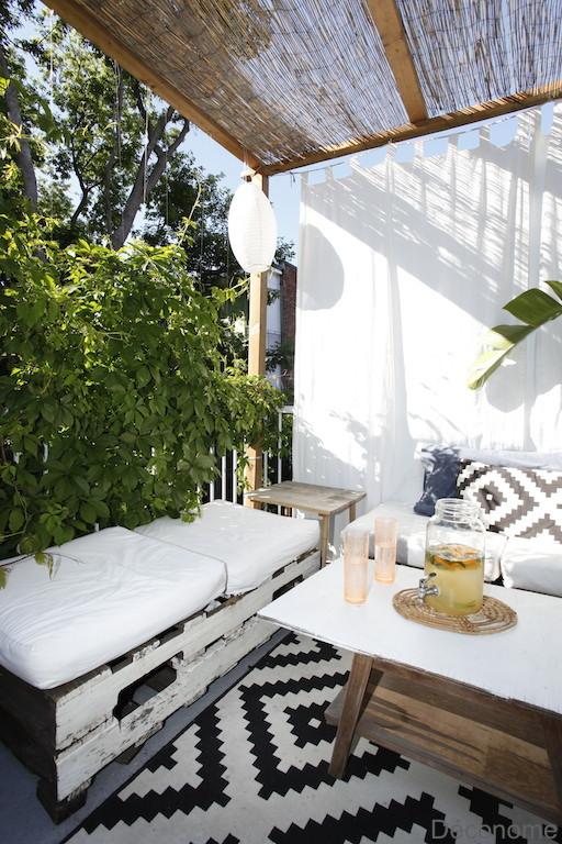 DIY palette couch patio / fabriquer une banquette extérieure avec des palettes