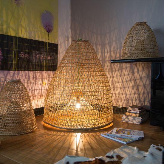 Fish net lamp / nasse de pêche luminaire