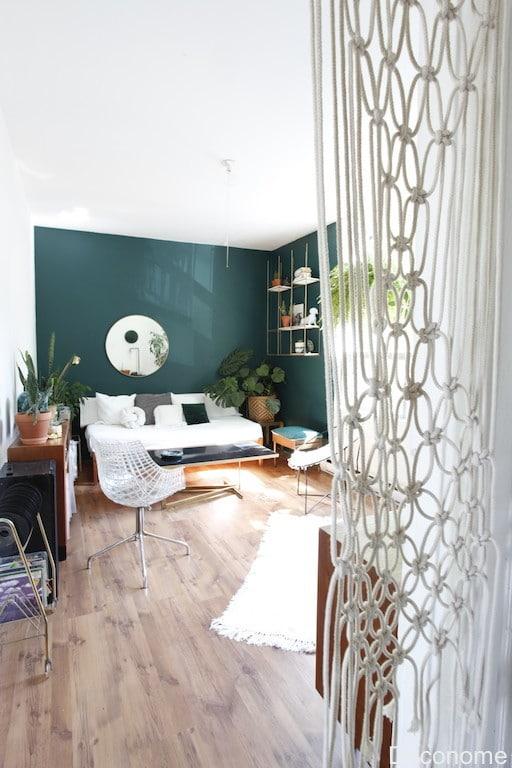 DIY rideau macramé salon