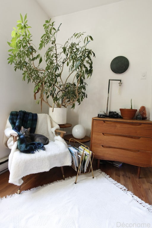 commode teck scandinave vintage