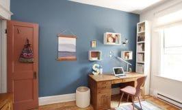 Mon bureau transformé avec la couleur Behr de l'année 2019