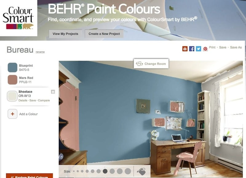 outil peinture photo Colour smart BEHR