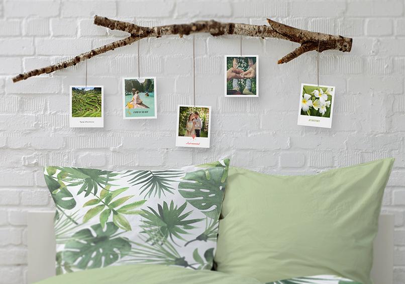 DIY branche arbre polaroids deco