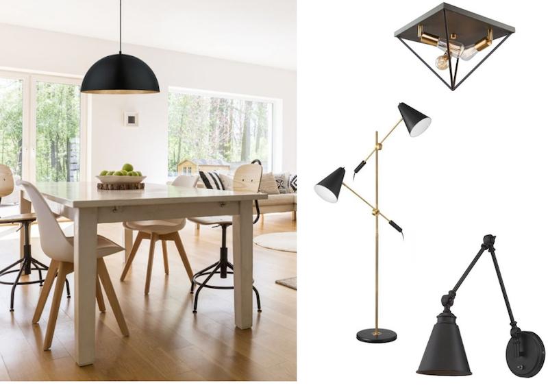 comment choisir ses luminaires et les harmoniser dans une pi ce d conome. Black Bedroom Furniture Sets. Home Design Ideas