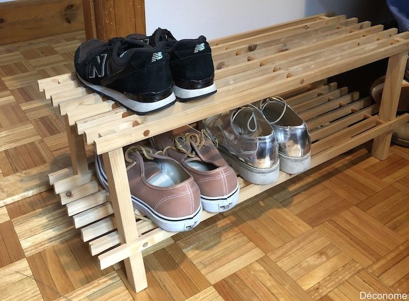 diy une t te de lit avec un range chaussures en bois d conome. Black Bedroom Furniture Sets. Home Design Ideas