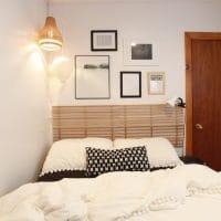 DIY: une tête de lit avec un range-chaussures en bois