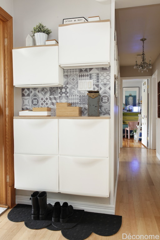 Petite entrée optimisée avec rangement mural / How to optimize a very small entry hall