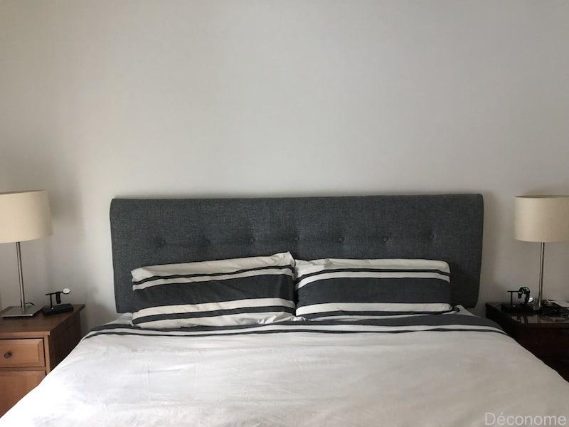 fabriquer une tête de lit rembourrée en tissu / DIY upholstered headboard