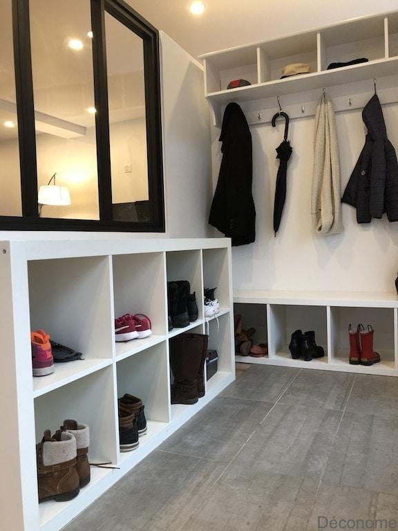 étagère Kallax IKEA pour une entree avec verrière / Entry hall