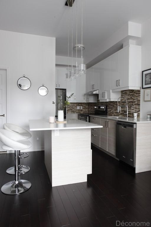 Pellicule adhésif Wrap Ma Cuisine effet bois clair / Wrap My Kitchen wood adhesive film kitchen makeover